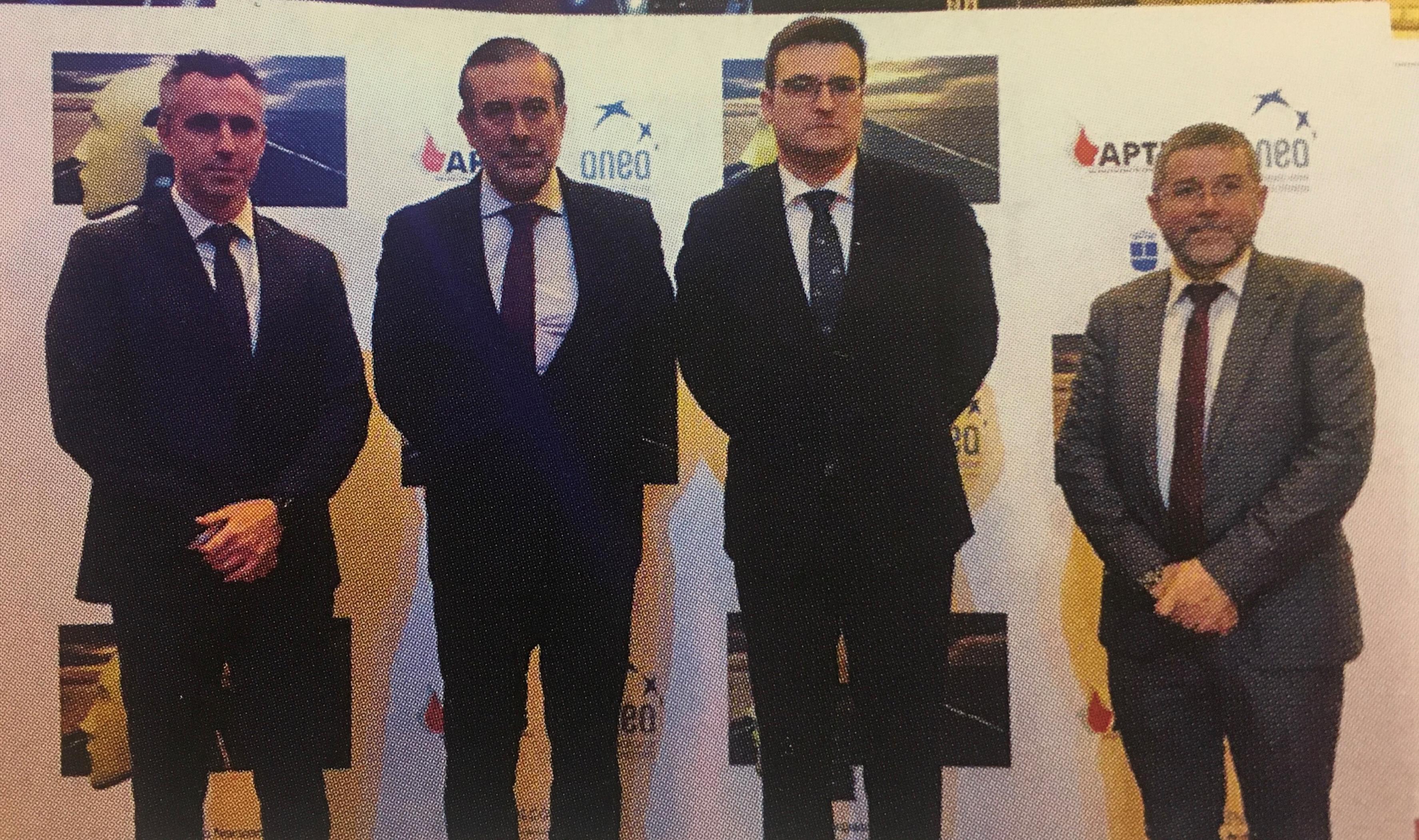 De izquierda a derecha: Carlos Novillo (presidente de APTB), Enrique López (consejero de Interior), Ángel Arranz (vicealcalde de Alcobendas) y Carlos Magdaleno, presidente de ANEA